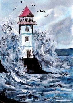 Leuchtturm im Sturm von ZeichenbloQ
