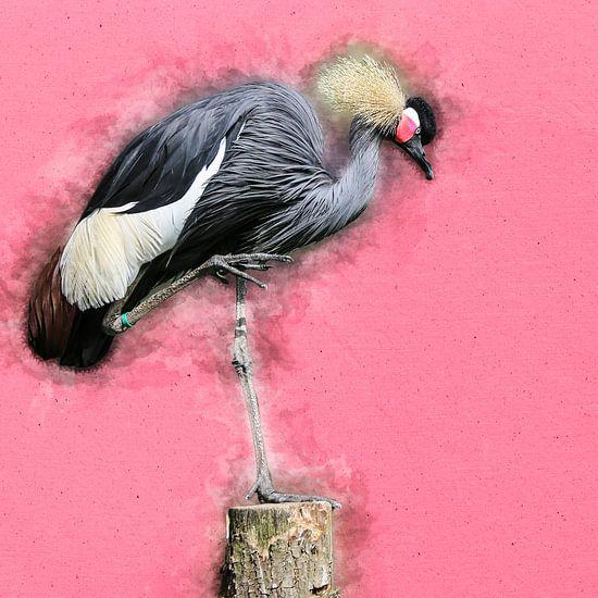 Kraanvogel van Art by Jeronimo