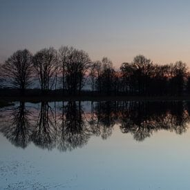 Zonsondergang in het Haaksbergerveen sur Art Wittingen