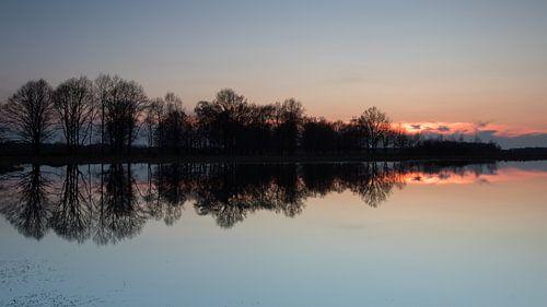 Zonsondergang in het Haaksbergerveen sur