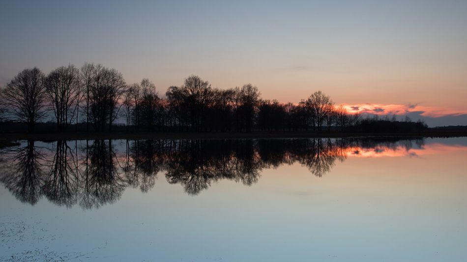 Zonsondergang in het Haaksbergerveen von Art Wittingen