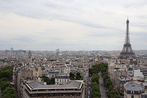 Eiffeltoren in parijs van