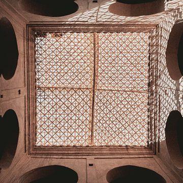 Muster im Dach eines marokkanischen Hauses von Sophia Eerden