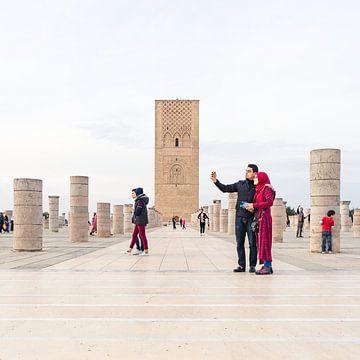 Die Hassan-Turm in Rabat, Casablanca. von Liset Verberne