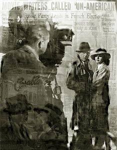 Casablanca Pop Art Canvas, Humphrey Bogart Pop Art, Ingrid Bergman Pop Art