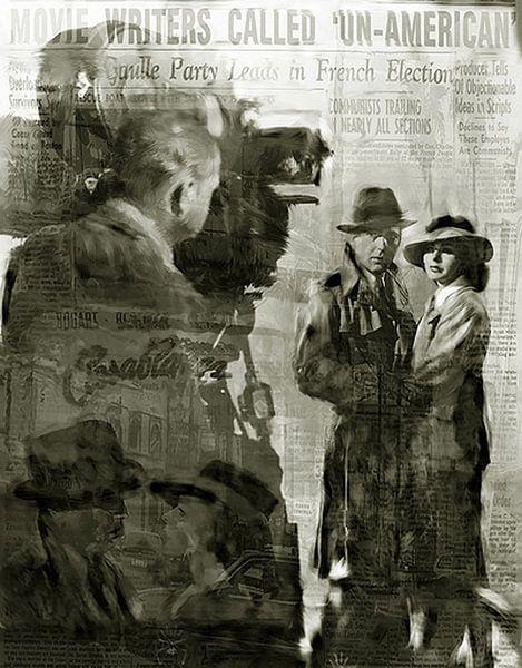 Casablanca Pop Art Canvas, Humphrey Bogart Pop Art, Ingrid Bergman Pop Art van Leah Devora