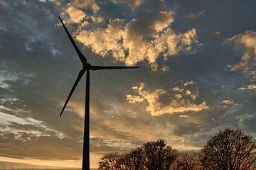 Der Sonnenuntergang der Windmühle von Faucon Alexis