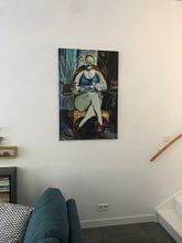 Kundenfoto: Die Katzen-Lady von Joachim G. Pinkawa, auf leinwand