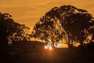Sonnenuntergang in San Francisco von Rolf Linnemeijer