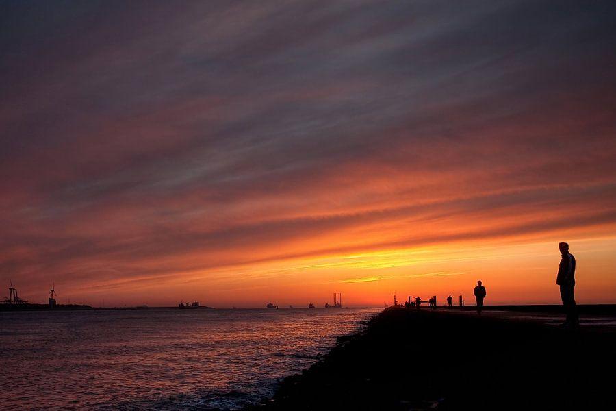 Zonsondergang Hoek van Holland van PAM fotostudio