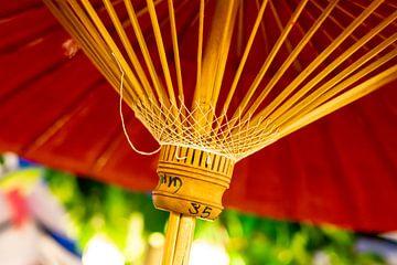 Handgemaakte kleurrijke parasol