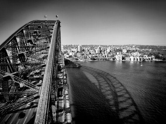 Sydney Harbour Bridge | Monochrome van Melanie Viola