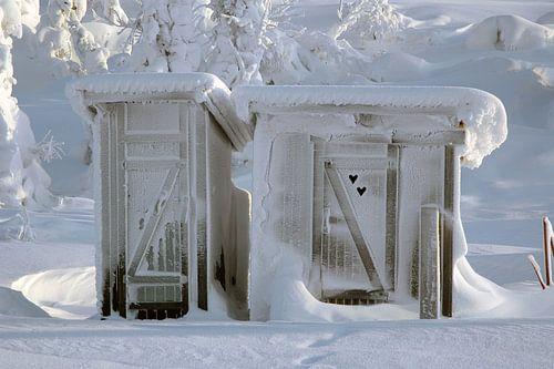 Bevroren openbaar toilet