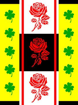 DOES Pop Art Lucky Roses van Jan Willem van Doesburg