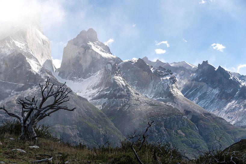 Bergketen Torres Del Paine van Derrick Kazemier