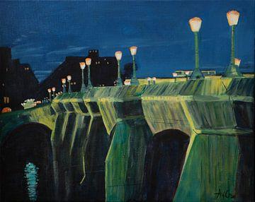 Christo Pont Neuf Paris von Antonie van Gelder Beeldend kunstenaar