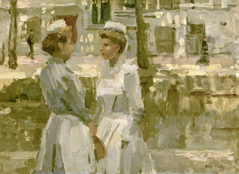 Dienstmädchen auf der Leidsegracht, Isaac Israëls von Meesterlijcke Meesters