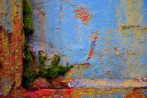 Kleurrijk roest, Landschaftspark Duisburg-Nord Duitsland