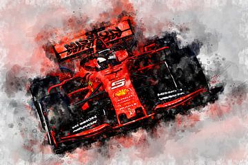Vettel, Ferrari 2019 van Theodor Decker