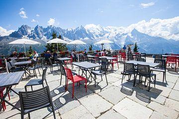 Uitzicht op de Mont Blanc, Frankrijk van Rosanne Langenberg
