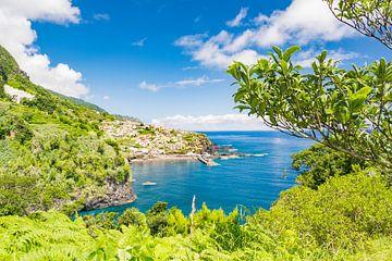 Uitzicht op Seixal aan de kust van het eiland Madeira van Sjoerd van der Wal