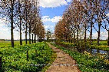 Hollands polderlandschap met toepasselijke tekst von Irene Damminga