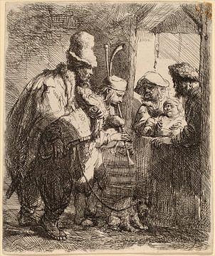 Rembrandt van Rijn, De Wandelende Muzikanten van Rembrandt van Rijn
