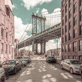 NEW YORK CITY Manhattan Bridge | urbaner Vintage-Stil von Melanie Viola