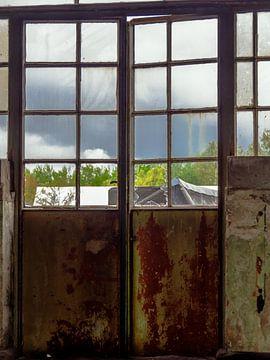 Deur met raam
