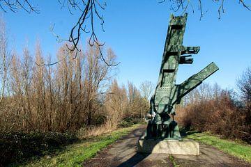 Monument Barendrechtse brug langs de Oude Maas von Hans Blommestijn