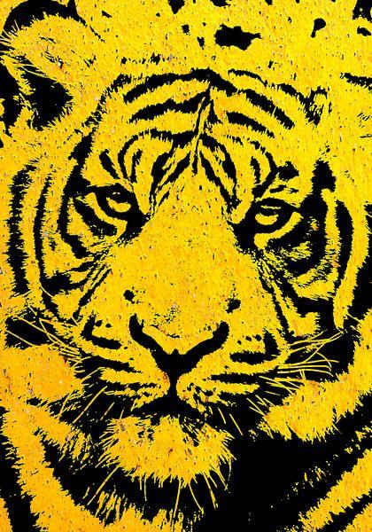 Tiger yellow von PictureWork - Digital artist