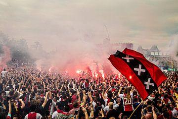 Huldiging landskampioen Ajax in Amsterdam van Marcel Krijgsman