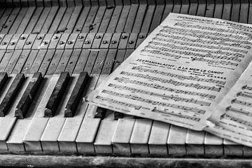 Piano in verlaten villa van Cees Stalenberg