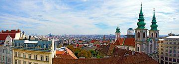 Viennese District of Mariahilf van Leopold Brix