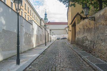 Knusse Verborgen Straat in Praag