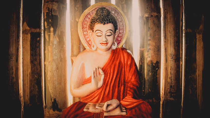Boeddha in Chin Mudra (B) van Cine Prem