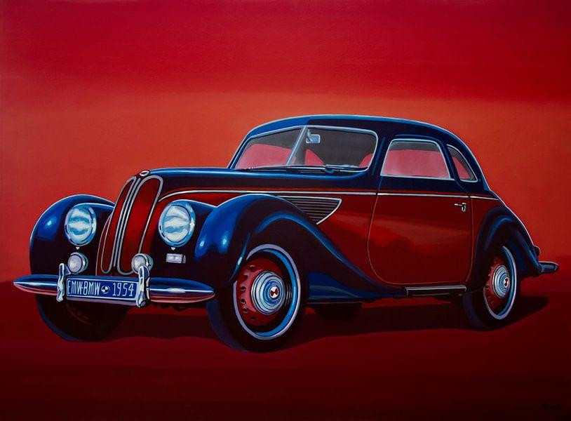 EMW BMW 1951 Schilderij van Paul Meijering