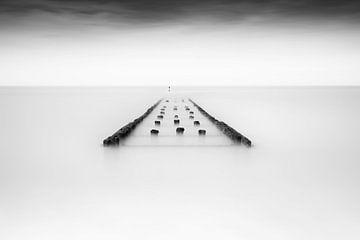 Wellenbrecher am Strand von Ingrid Van Damme fotografie