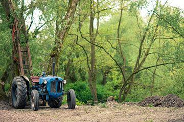 Tracteur en forêt sur Wolf Schouten