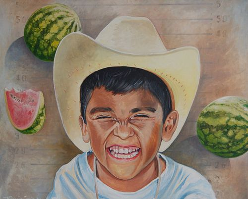 Mexican boy van