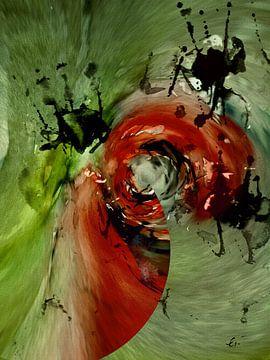 Roter Käfer - abstrakt von Christine Nöhmeier