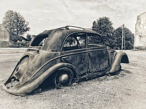Verrosteter alter Citroën