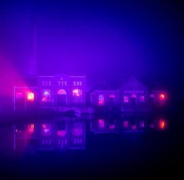 Dampfmaschinenmuseum im Nebel von Rik Brussel
