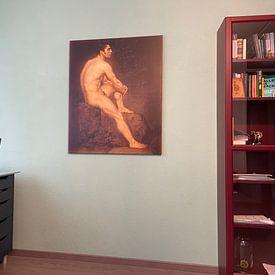Kundenfoto: Mannelijk naakt, Manuel Ignacio Vázquez, auf leinwand