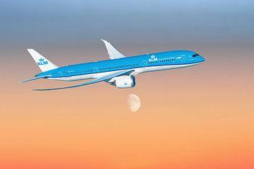 KLM Boeing 787-9 Dreamliner, registratie PH-BHA. van Gert Hilbink