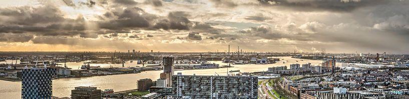 Panorama Rotterdamse Haven van Frans Blok