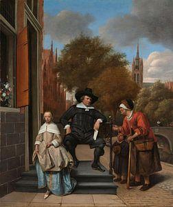 De burgemeester van Delft en zijn dochter, Jan Havicksz. Steen