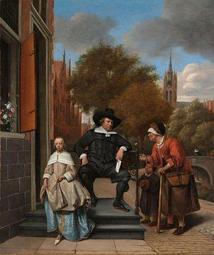 Der Bürgermeister von Delft und seine Tochter, Jan Havicksz. Steen