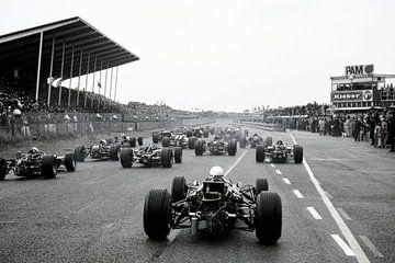 Beginn des Grand Prix 1968 Zandvoort von Harry Hadders