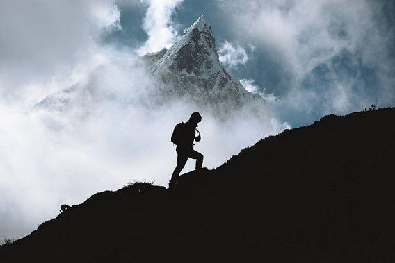 Bergwandelaar in Nepal